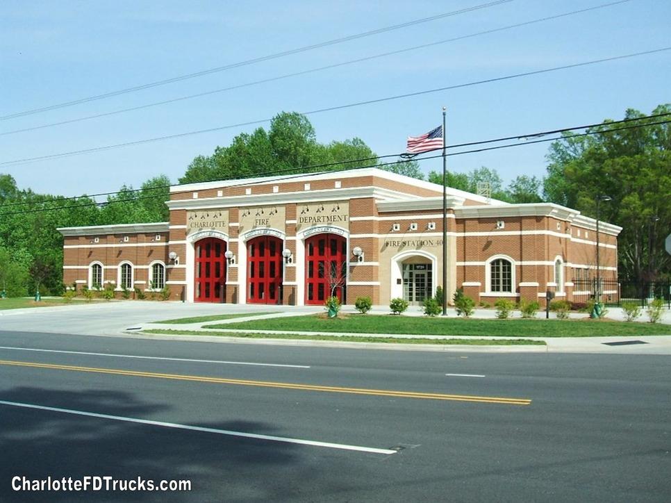 Fire Station 40 Charlotte F D Trucks